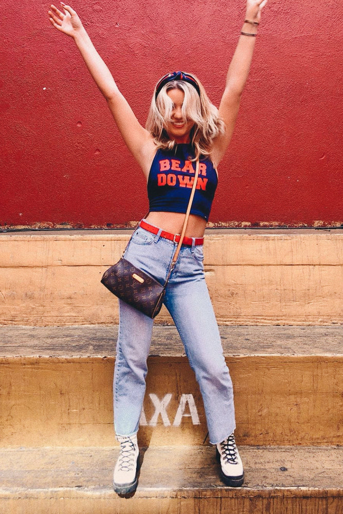 Load image into Gallery viewer, Bear Down Blue Adjustable Halter Top