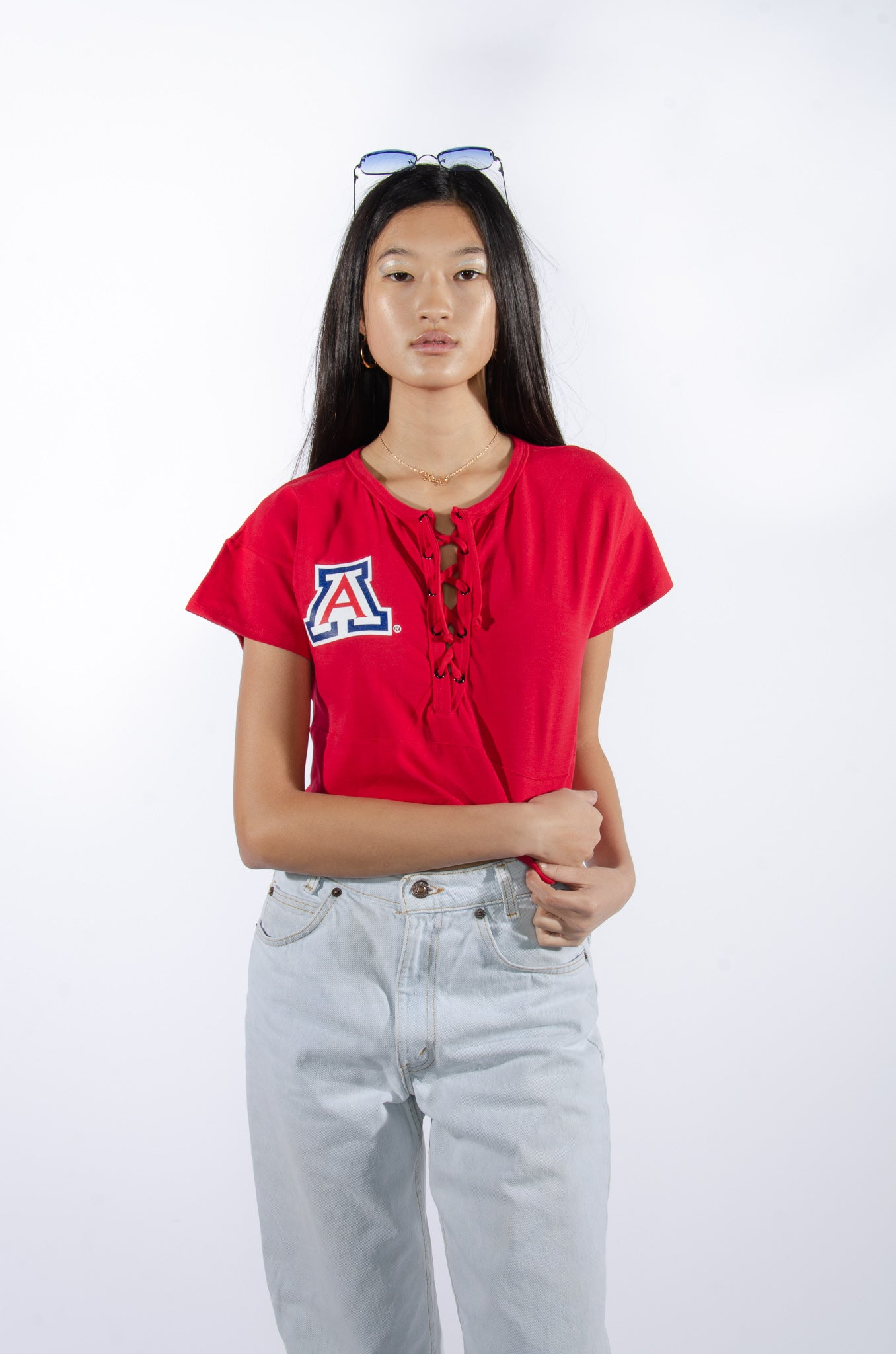Arizona Lace-Up Top - Hype and Vice