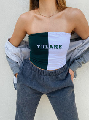 Tulane - Color Block Tube Top - Hype and Vice