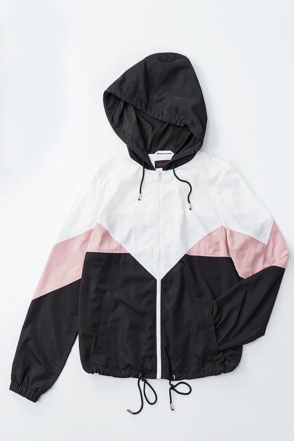 Windy City Windbreaker • Pink & Black