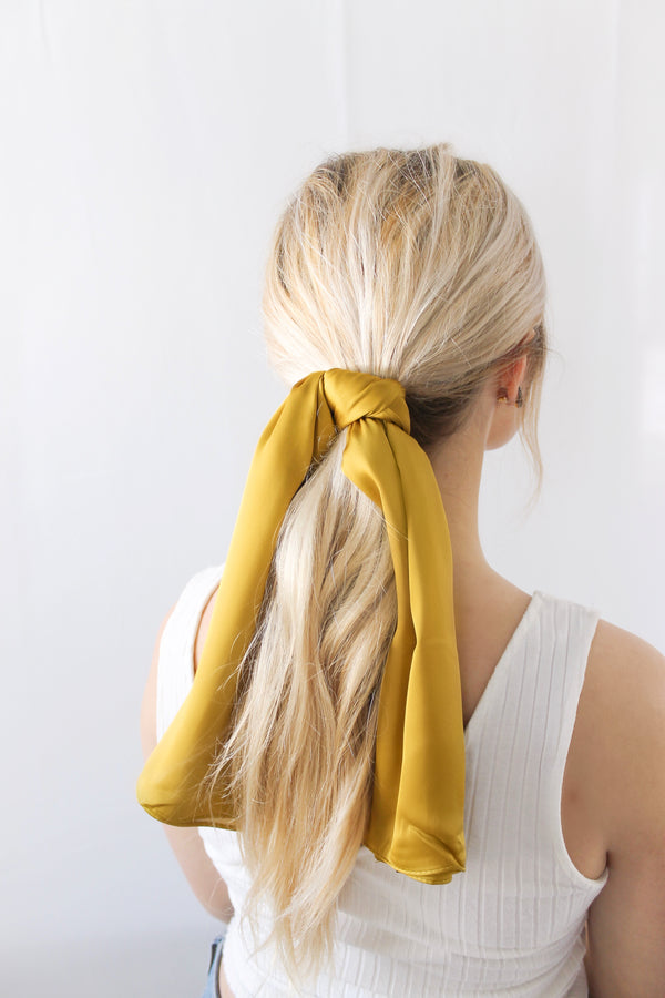 Square Scarf • Mustard Yellow