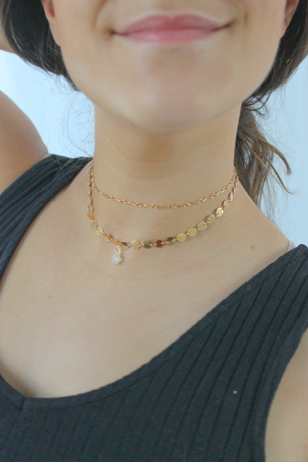 Coin Necklace with Dangle