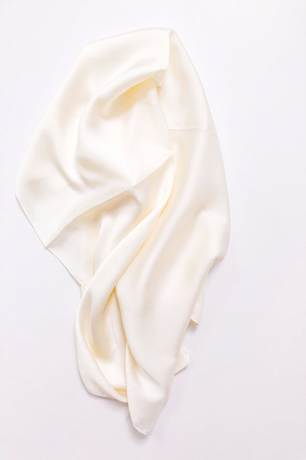 Square Scarf Top • Ivory
