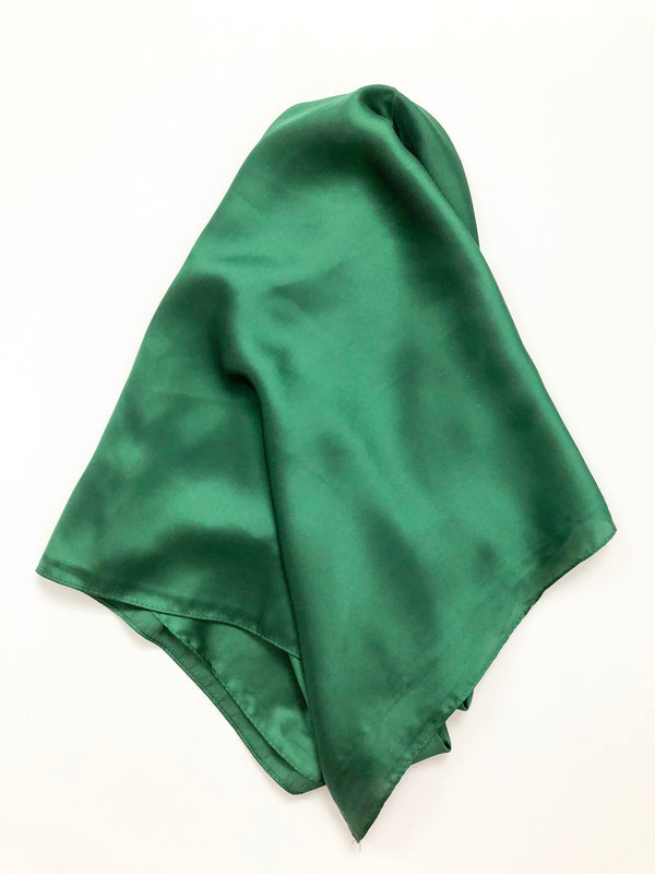 Square Scarf Top • Emerald Green