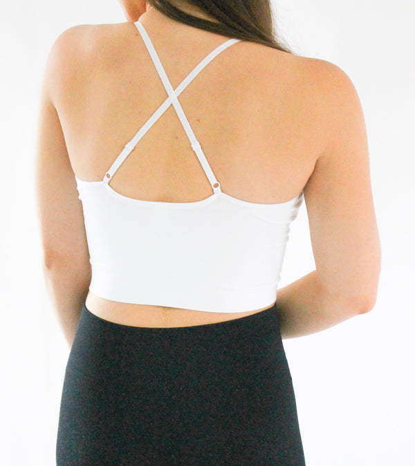 Colebrook Cropped Tank • White