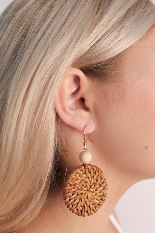 Wicker Earrings • Cream