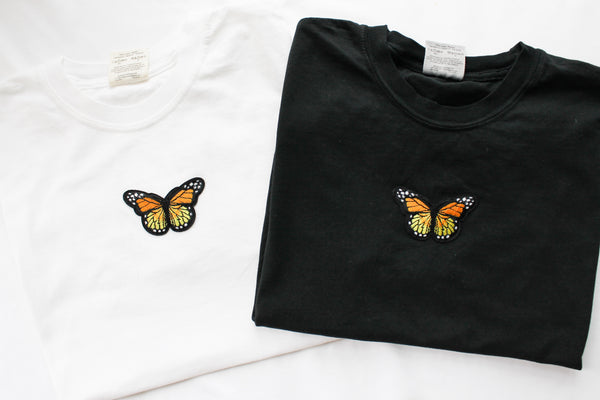 Butterfly Patch T-Shirt • White