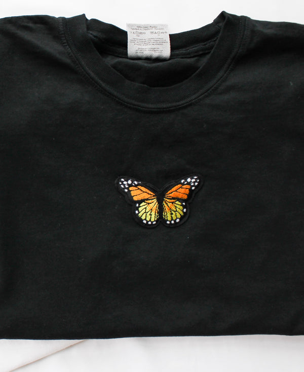 Butterfly Patch T-Shirt • Black