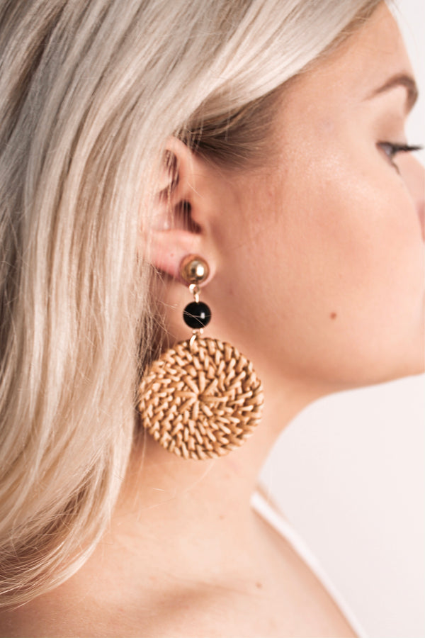 Wicker Earrings • Black