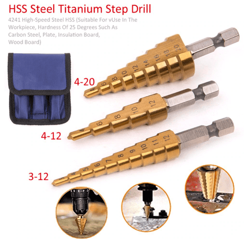 Titanium Coated Step Drill Bit
