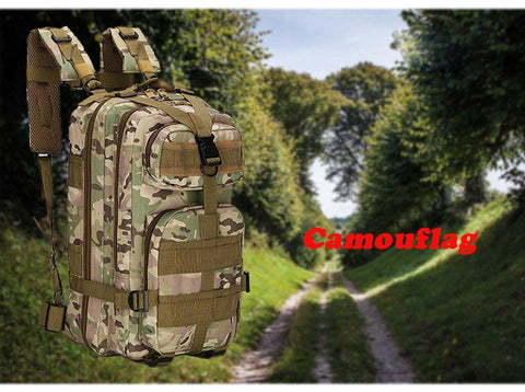 army bag for hiking and jungle discovering