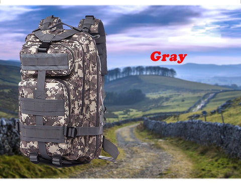 Gray bag for  hikers
