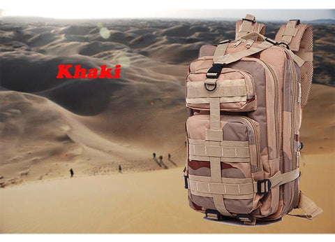 khaki bag for sahara hiking