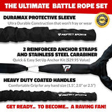 Pro Battle Ropes with Anchor Strap Kit