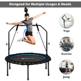 "40"" Foldable Fitness Rebounder with Resistance Bands Adjustable"