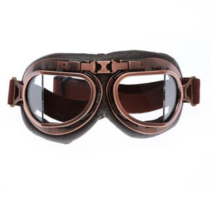 Retro Steampunk Copper Motorcycle Goggles