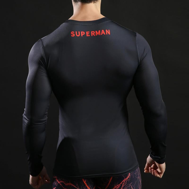 Superman Fitness Compression Shirt in Black