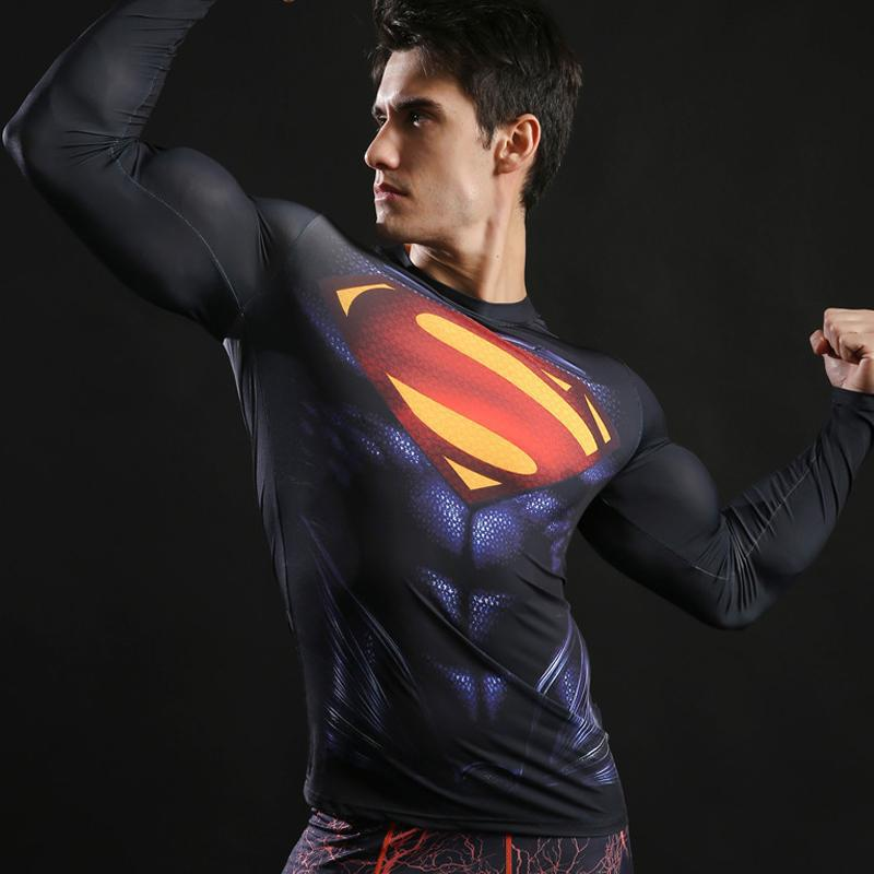 Superman Fitness Compression Shirt Shining