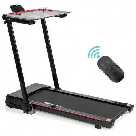 2.25HP 3-in-1 Folding Treadmill with Table Speaker Remote Control-Black