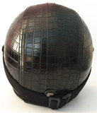 Vintage Helmet with Synthetic Leather (crocodile texture)-Colinas Store