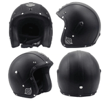 Vintage Helmet with Synthetic Leather (Cow texture)-Colinas Store