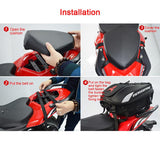 Multi-functional waterproof motorcycle tail bag
