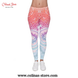 Women Workout Legging Mosaic Slim High Waist - Women - Legging Mosaic Workout
