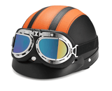 Retro Half Cruise Helmet -  German style