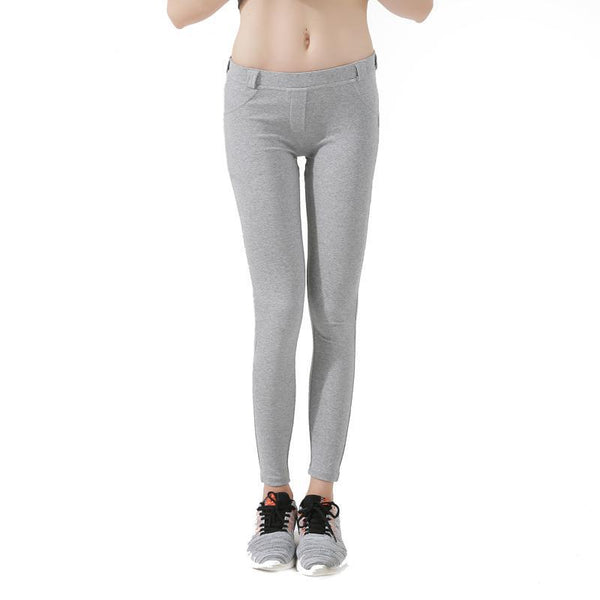 low waist leggings gray for women