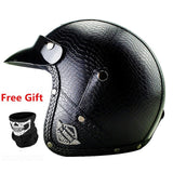 Down hill leather helmet for Harley Davidson