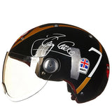 Open Face Helmet with Visor