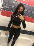 Black women's 2 Pcs tracksuit