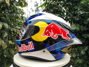 Full Face Red-Bull Helmet with big tail 2020