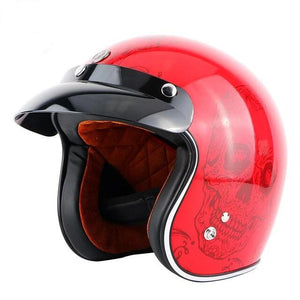 motorcycle helmet with a death face