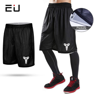 Best-EU Reversible Basketball Shorts with Pockets Quick Dry Breathable Training Basketball Shorts Men Fitness Running Sport Shorts-Basketball NBA short-Discount
