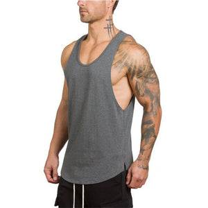 Simple Gold Bodybuilding Tank Top - Man - Bodybuilding Cotton Gym