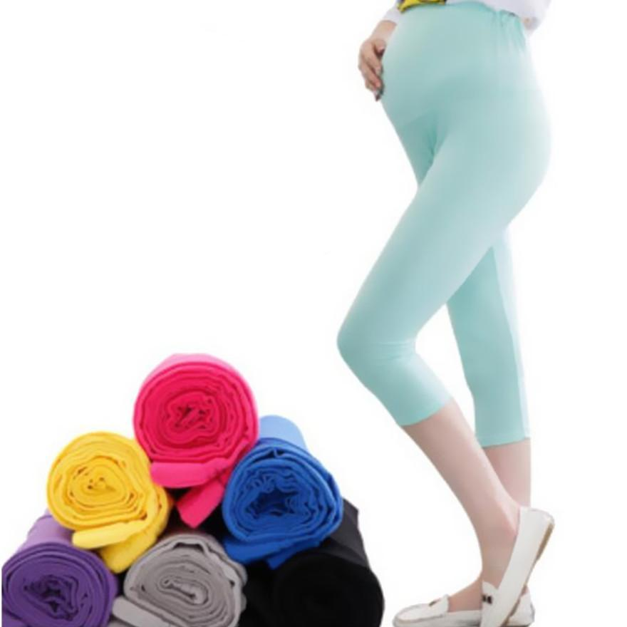 Solid Pant Pregnant - Comfortable Capris Cotton