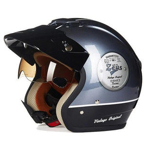 Zeus Retro half face motorcycle helmet  3/4