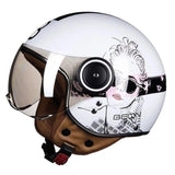 Vintage Scooter Helmet 3/4 Open Face-Colinas Store