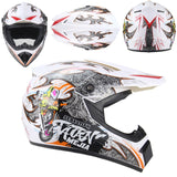 casco full face blanco