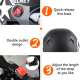 Modulable Scooter Bike Open Face Half Baseball Cap Anti-UV