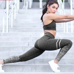 Gold yoga leggings for women