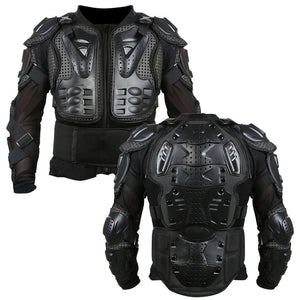 Full Body Motorcycle Armor Jacket - Vest Chest Gear Parts Protective Shoulder