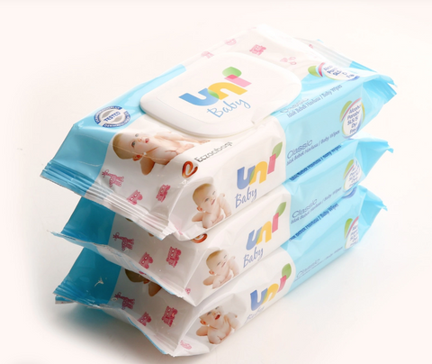 Unibaby Wet Wipes 56pc x  3 Packs - samnaturaluk