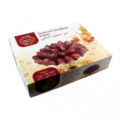 Al Malek Natural Medjoul Dates (Class 1)  5 kg - samnaturaluk