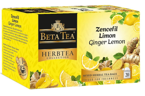 Beta Tea - Herbtea Collection- Ginger Lemon 40g - samnaturaluk