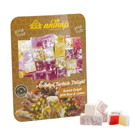 Turkish Delight With Rose and Lemon 300g