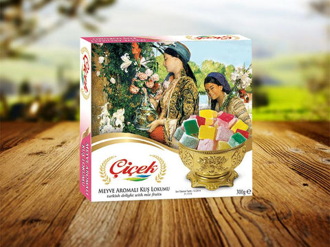 Cicek Turkish Delight Miniature with Mix Fruits 300g - samnaturaluk