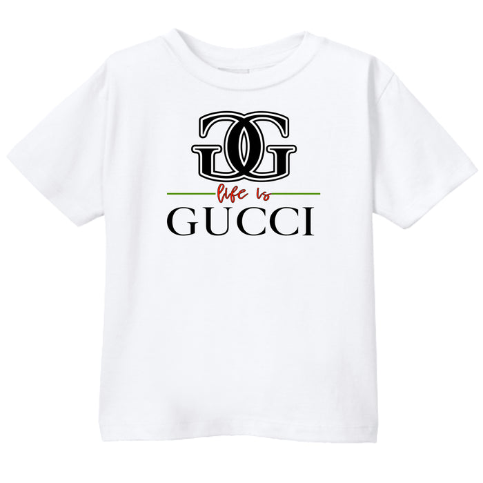 LIFE IS GUCCI - WHITE