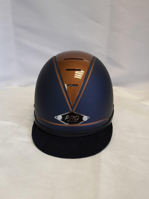 Copy of Ex-Display Protector Riding Hat -Matt blue/Copper middle - size 55cm